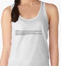 ingredients: horizontal {black} Women's Tank Top