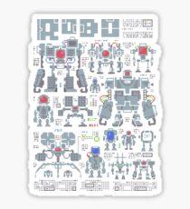 Robo Pixels Sticker