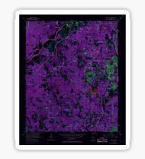 USGS TOPO Map Georgia GA Ben Hill 245028 1954 24000 Inverted Sticker