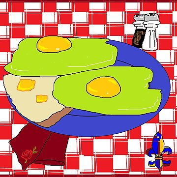 Green Eggs and toast by judysnyder