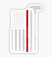 FIREFIGHTER AXE FLAG Sticker