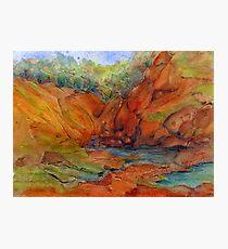Red Desert Miniature 3 Painting Photographic Print