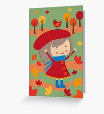 Happy Meitlis - Herbstzauber Greeting Card