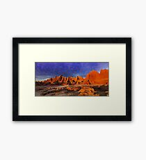 Sunrise over Badlands Door Trail .2 Framed Print