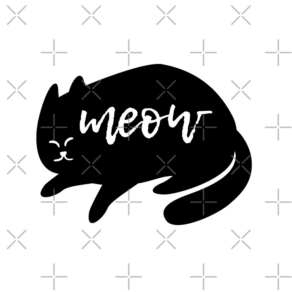 Black Cat Meow by owlHouseINK