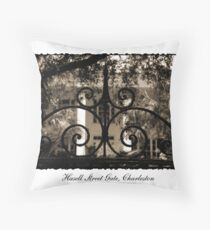 Hasell Street Gate in Sepia Throw Pillow