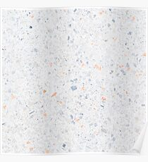 Natural Terrazzo Stone Stucture Pattern Pastel Poster