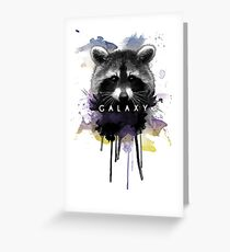 Raccoon Galaxy Greeting Card