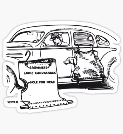 Dog Transport Sticker