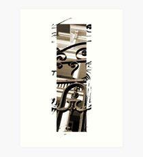 Charleston, Vertical Sepia #1 Art Print