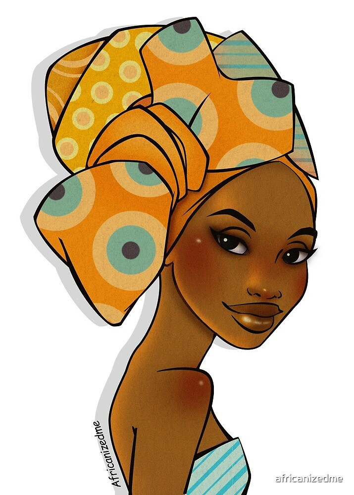 Gold Headwrap by africanizedme