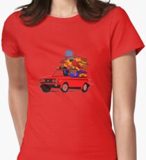 Anthill Mob's Vw Golf Womens Fitted T-Shirt