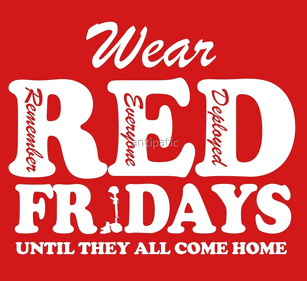 WEAR RED FRIDAYS UNTIL THEY ALL COME HOME by antipatic