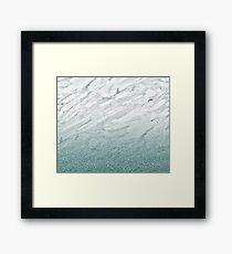 Calacatta Verde glitter gradient Framed Print