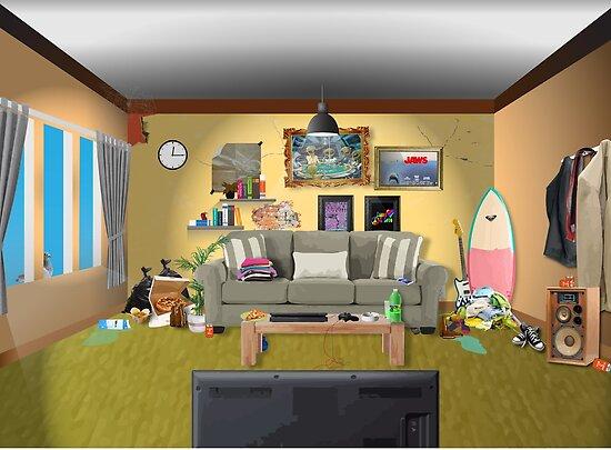 Unordentliches Wohnzimmer Von Evaldaspx