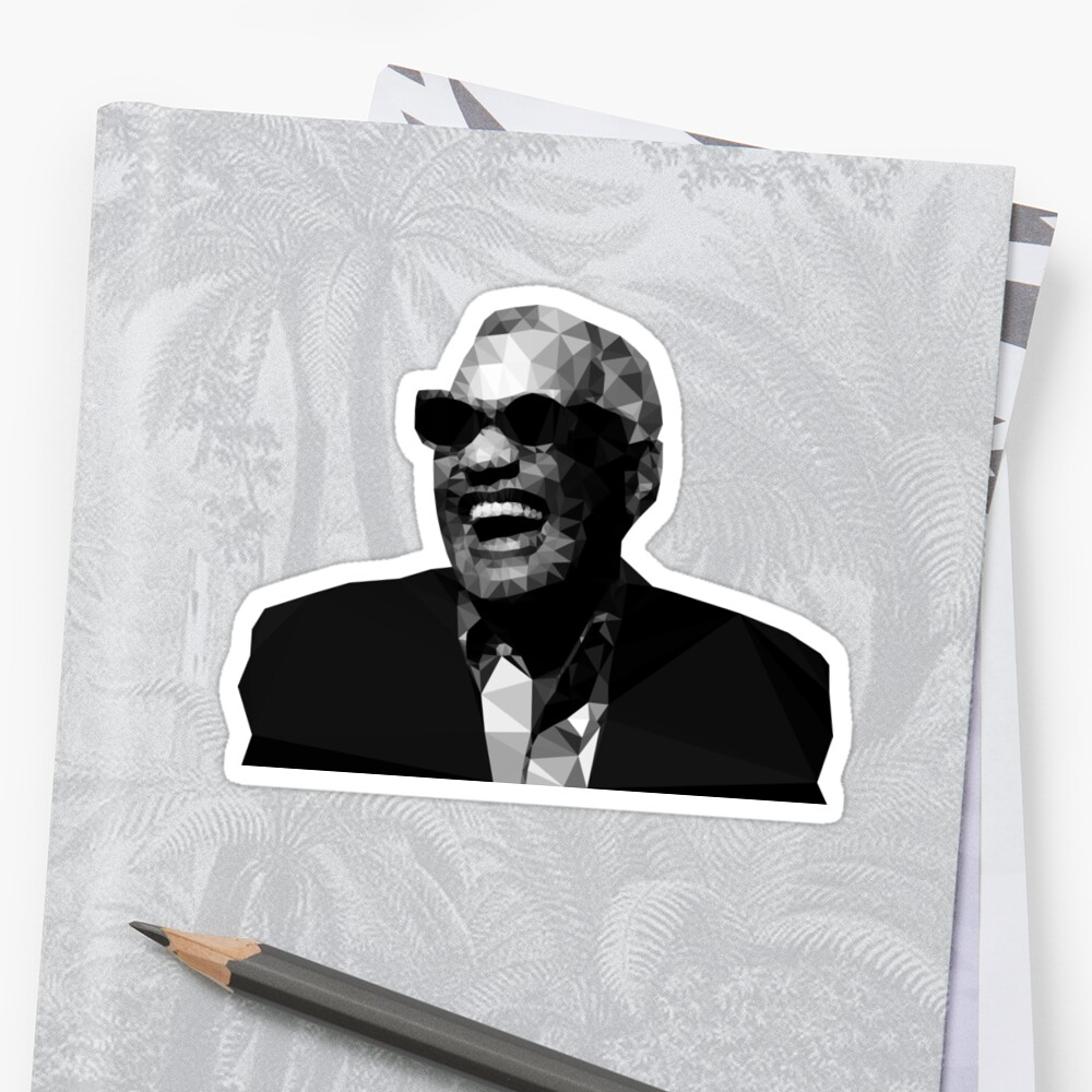 Low Poly Ray Charles by baba-ganoush