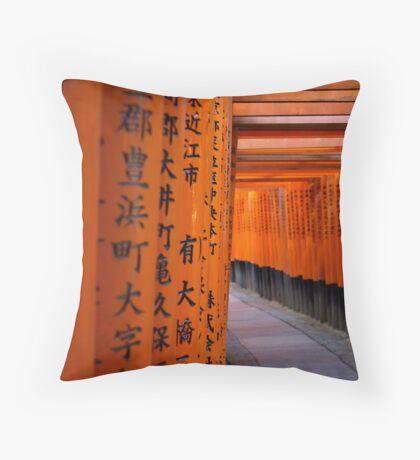 Tori Gates - Fushimi Inari Shrine Throw Pillow