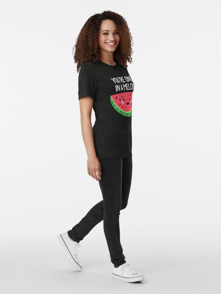 Alternative Ansicht von Du bist eins in einer Melone Cute Watermelon Fruit Wortspiel Vintage T-Shirt