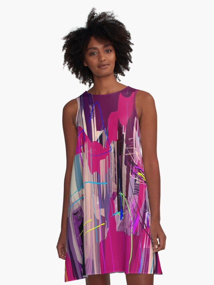 The Cat Must be Crazy A-Line Dress Front