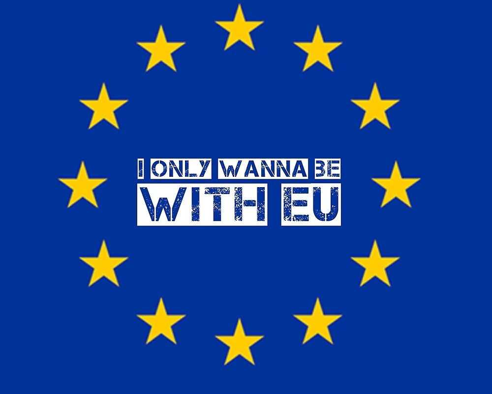 I only wanna be with EU by MworldTee