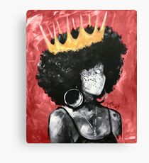 Naturally Queen II RED Canvas Print