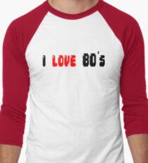 i love 80's Men's Baseball ¾ T-Shirt
