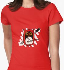 Owl-pool (swearing) Womens Fitted T-Shirt