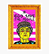 GOD SAVE THE PEOPLE Photographic Print