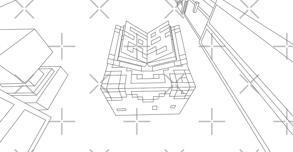 Minecraft Line Drawing by DrSkeletor