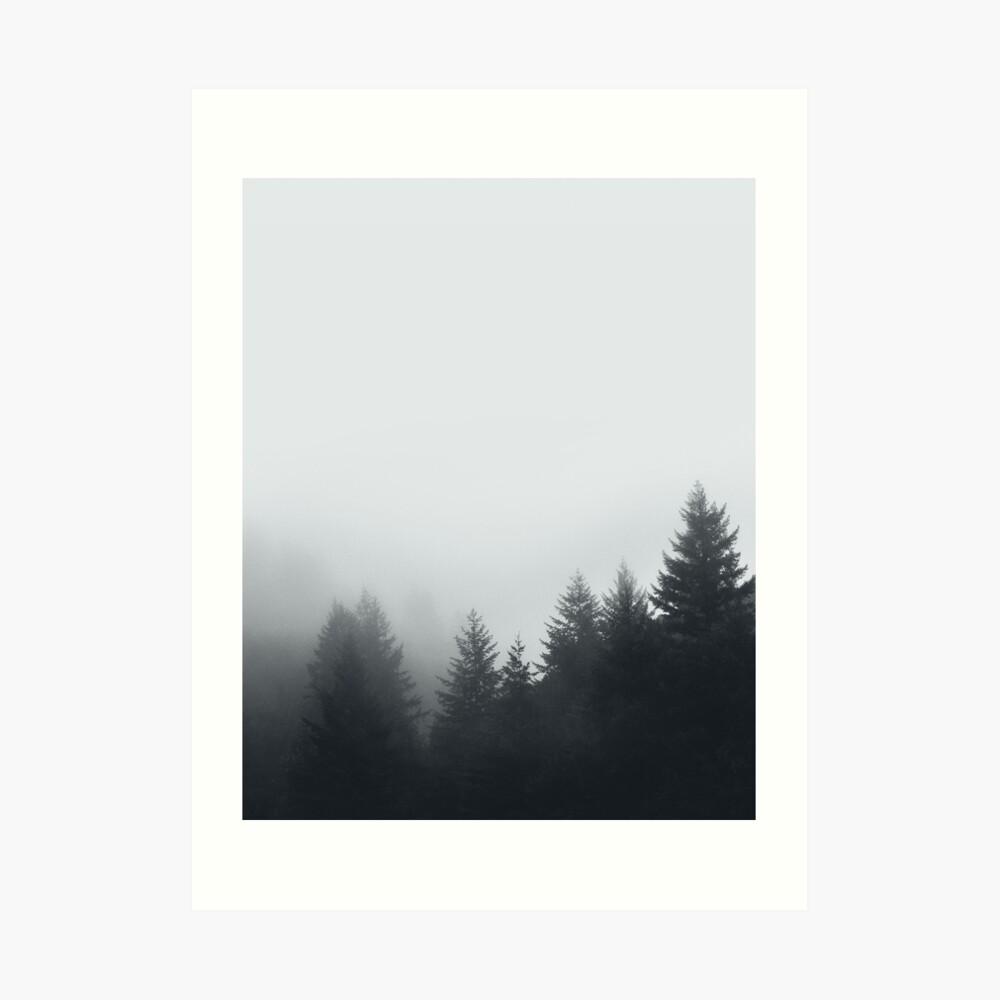 Waldnebel Kunstdruck