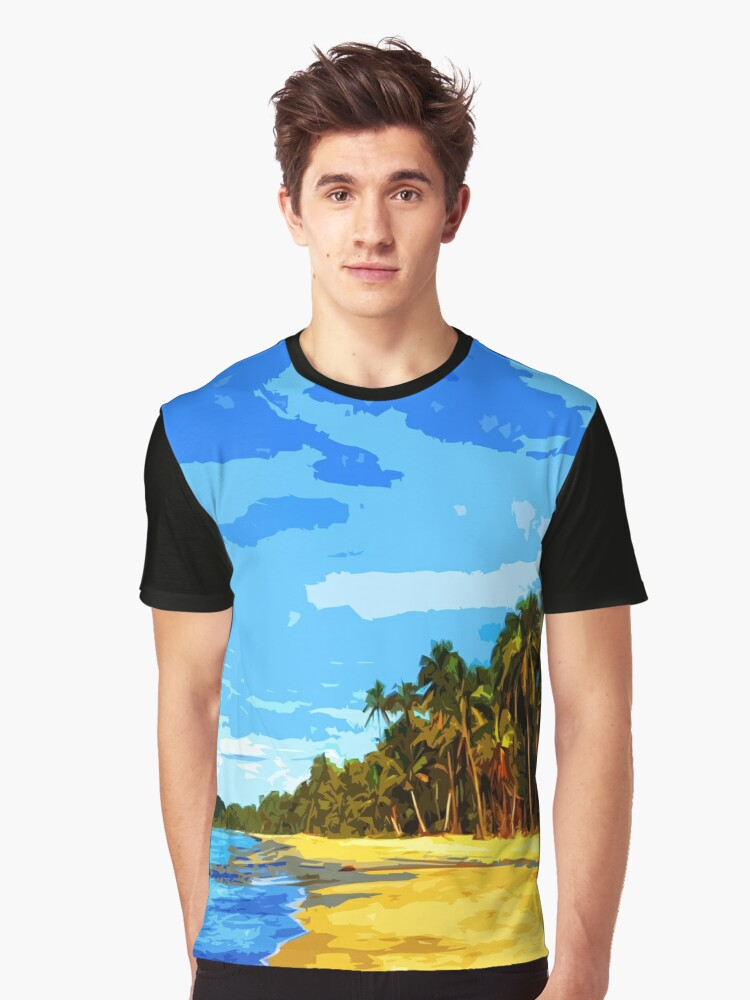 Beach Graphic T-Shirt Front