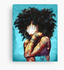 Naturally II BLUE Canvas Print