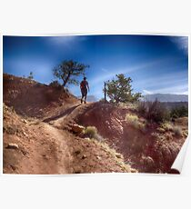 The Hiker - Kodachrome Basin State Park - Utah Poster