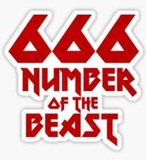 Nummer der Bestie Sticker
