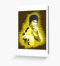 Bruce Lee Game of Death pose Greeting Card