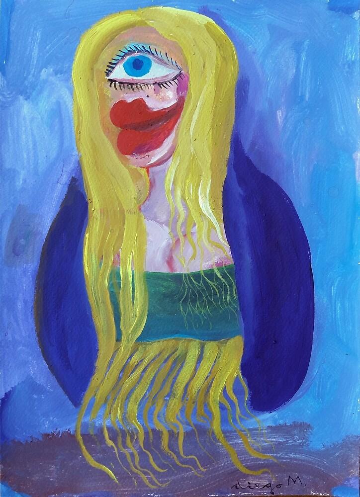 Cubist Blonde 5 by Diego Manuel Rodriguez