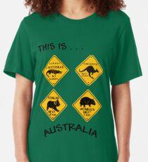 This is Australia Slim Fit T-Shirt