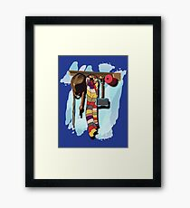 GUESS WHO'S COMING DINNER???  Framed Print