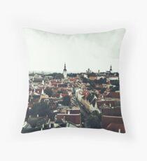 Tallinn Estland Cityview Throw Pillow