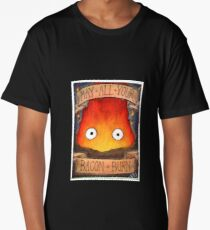 Howl's Moving Castle Illustration - CALCIFER (original)  Long T-Shirt