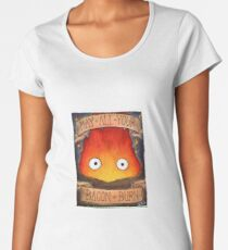 Howl's Moving Castle Illustration - CALCIFER (original)  Women's Premium T-Shirt