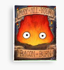 Howl's Moving Castle Illustration - CALCIFER (original)  Canvas Print