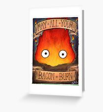 Howl's Moving Castle Illustration - CALCIFER (original)  Greeting Card