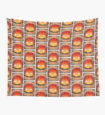 Howl's Moving Castle Illustration - CALCIFER (original)  Wall Tapestry