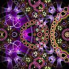 Fractal pop-art pattern design by walstraasart