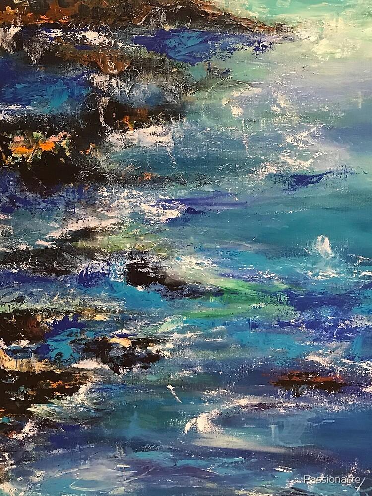Crashing waves  by Passionarte