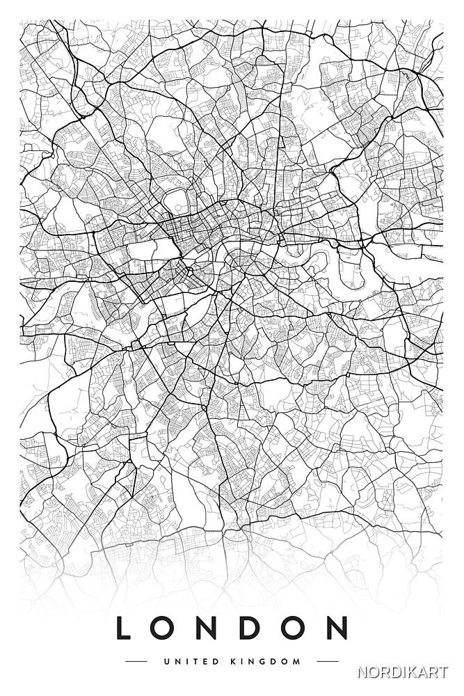 LONDON CITY MAP by NORDIKART