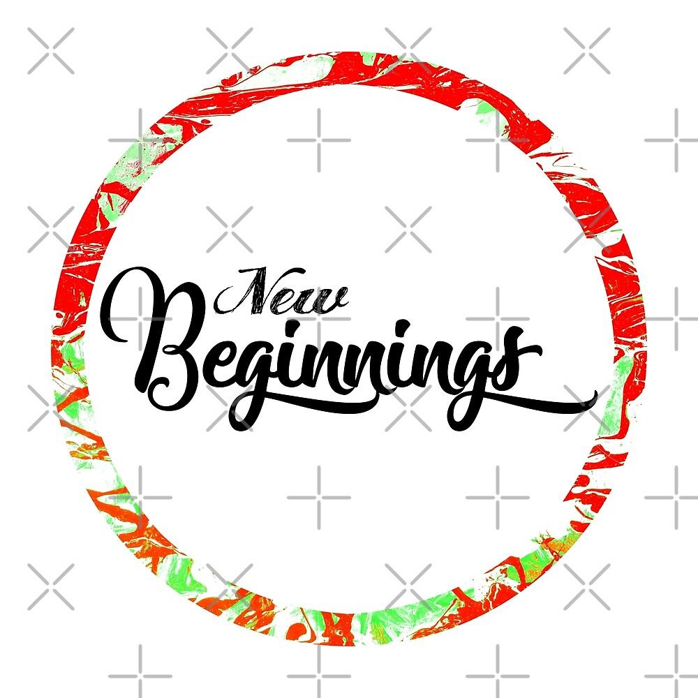 New Beginnings Typography by Daniel Ward