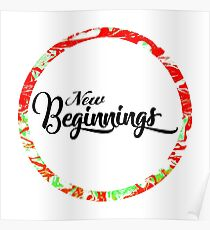 New Beginnings Typography Poster