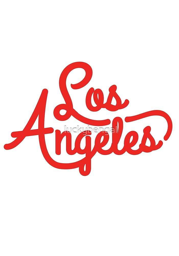 Retro Los Angeles Typography Design by luckybengal